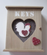 Cockerel & Hearts Design Wooden Key Cabinet 61639